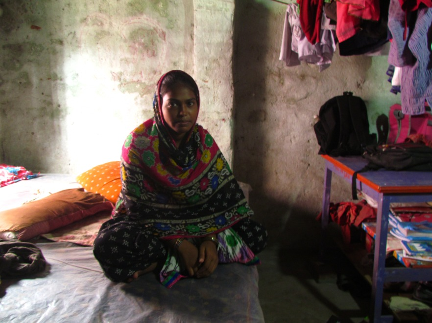 Image 1 - 17 year old Morjina at her home in West Bengal